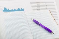 Stift auf der Drehungsauflage Lizenzfreie Stockfotos