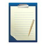 Stift auf einem weißen Blatt Papier Lizenzfreies Stockbild