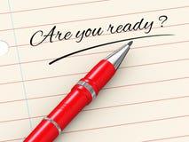 Stift 3d auf Papier - sind Sie vorbereiten Lizenzfreie Stockfotos