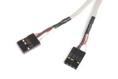 stift för dvd för kontaktdon för kabel för audio 4 cd Arkivfoto