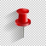 Stift för push för vektorsymbol rött Royaltyfria Foton