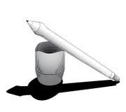 Stift für Tablette mit mit Berührungseingabe Bildschirm Lizenzfreies Stockbild