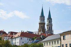 Stift Klosterneuburg in Vienna. Two towers of the monastery Klosterneuburg in Vienna, Austria royalty free stock photo