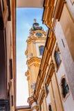 Stift Melk Abbey Church de detrás Imágenes de archivo libres de regalías