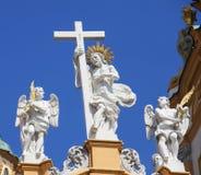 Stift Melk eller Melk abbotskloster i Österrike Arkivfoto