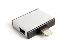 30 stift och micro USB till adapteren för 8 stift Arkivbilder