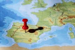 Stift som pekar Madrid Royaltyfria Foton