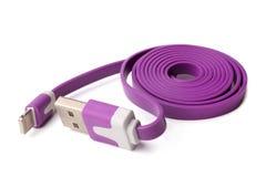 Stift 8 till USB kabel royaltyfria bilder