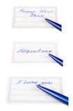 Stift und Ausweis Stockbild