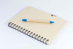 Stift und Notizbuch stockbilder