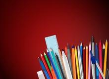 Stifte und Bleistifte Lizenzfreies Stockbild