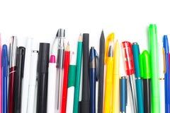 Stifte und Bleistifte Stockbild