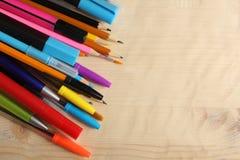 Stifte und Bleistifte Stockfotos