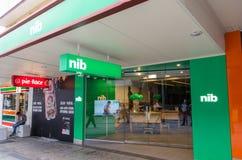 STIFTförsäkringkontor i centrala Brisbane, Australien arkivbild