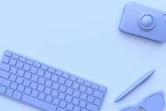 Stiftgl?ser purpurrot-violett alle abstrakte Szene 3d des Gegenstandes Technologiekonzept ?bertragen lizenzfreies stockfoto