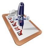 Stiftmaskottchen und -übersicht Lizenzfreie Stockbilder