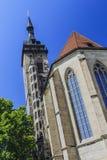 Stiftskirche在斯图加特,德国 免版税库存图片