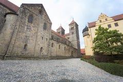 The Stiftskirche church in Quedlinburg, Germany Stock Photos