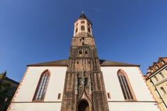 Stiftskirche i Baden Baden Arkivfoto