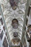 Stiftskirche Sankt Peter interior in Salzburg, Austria. Royalty Free Stock Image