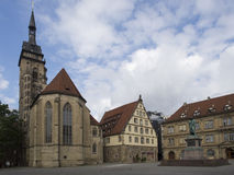 Stiftskirche, Stuttgart stock image