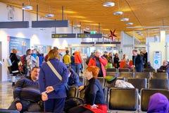 Stiga ombord för jul för LJU-terminal pre royaltyfria bilder