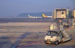 Stiga ombord för jul för LJU-terminal pre arkivbilder