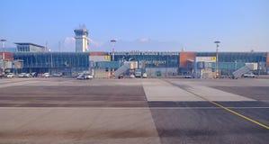 Stiga ombord för jul för LJU-terminal pre royaltyfria foton