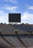 Stiga ombord ovanför tomma tribun på Barcelona Olympic Stadium på Maj 10, 2010 i Barcelona, Spanien Fotografering för Bildbyråer