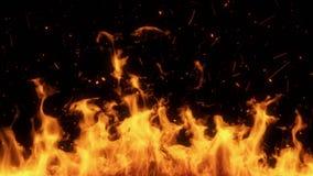 Stigande brandflammor med gl?dIntro Logo Overlay Element vektor illustrationer