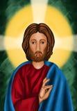 stigande christ jesus lord Royaltyfri Foto