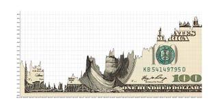 Stigande dollar arkivbild