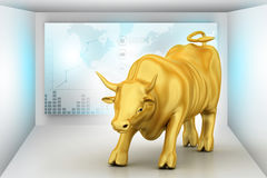 Stigande guld- affärstjur Arkivbild