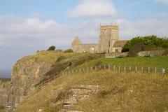 Stigande kyrkliga Somerset England Royaltyfria Foton