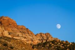 Stigande Moon Arkivbilder