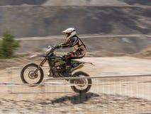 Stigande mopedkörning Arkivbilder