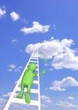 stigande sky för docka vektor illustrationer