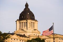 Stigande South Dakota för sol som huvudstad bygger Hughes County Pierre Royaltyfria Foton