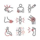 stiger Tecken behandling Linje symbolsuppsättning Vektortecken för rengöringsdukdiagram vektor illustrationer