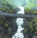 Stigfoss waterfall. Stigfossen waterfall in Norway Stock Image