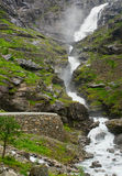 Stigfossen瀑布 库存图片