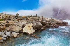 Stigfossen vattenfall - Norge Arkivfoto