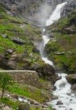 Stigfossen waterfall. The big waterfall Stigfossen in Norway Stock Image