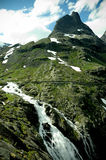 Stigfossen waterfall ( Norway ) Stock Photo