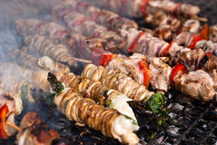 Stigghiole. Τρόφιμα οδών στο Παλέρμο Στοκ Εικόνες