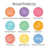 Stigmatisez la mise en réseau d'Icon Set W d'ambassadeur et de porte-parole, Social, illustration stock