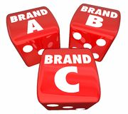 Stigmatisez un produit de B C Rolling Dice Choose Best Company Illustration de Vecteur