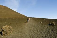 Stigning av Mount Etna Royaltyfria Bilder