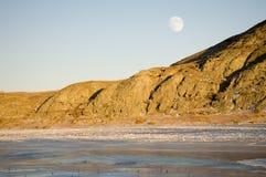 stigning för 2 moon Fotografering för Bildbyråer