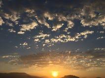 Stigning Sun fotografering för bildbyråer